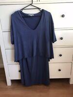 Oliver Bonas Size 14 Blue Dress