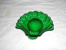 Anchor Hocking emerald green shell shaped bowl, dish
