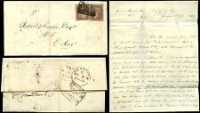 Penny Rojo Imperf 1849 2d Tipo Escocia Glasgow + Queen Street En Caja