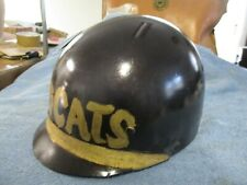 Vintage WW2 helmet liner turned into toy and used for sports team WILDCATS