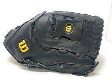 "WILSON Elite Softball Glove 14"" Custom Fit A2444 Black RHT Leather"