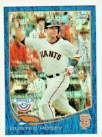 2013 Topps Opening Day Blue #1 Buster Posey Giants Baseball Card 257/2013