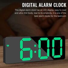 Digital Wecker Tischuhr Uhr Beleuchtet Nacht Thermometer Snooze Alarm Nachtlicht