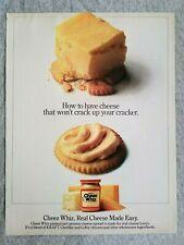 1984 Magazine Advertisement Page Kraft Cheez Wiz Orville Redenbachers Popcorn Ad