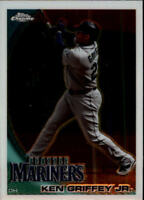 2010 Topps Chrome Baseball #28 Ken Griffey Jr. Seattle Mariners