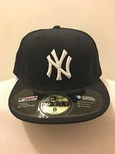 New York Yankees Fitted Hat 8 New Era Cool Base 5950 With Stickers New Old Stock