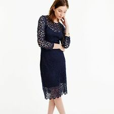 NWT J.Crew Collection Lace Sheath Dress Size 00 NAVY