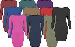 Body Con Mini Dress Long Sleeved  jumper Top dressess  O71