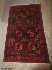 New listing Vintage Persian Floral Red & Yellow Wool Rectangle Runner Rug