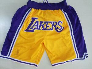 Color : Purple, Size : S YSPORT Los Angeles Lakers Pantalones Cortos Baloncesto Uniforme Fan/áticos Jerseys Swingman Transpirable Y Ponible Malla Bordada Pantalones Cortos S-XXL