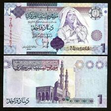 LIBYA 1 DINAR UNC # 668