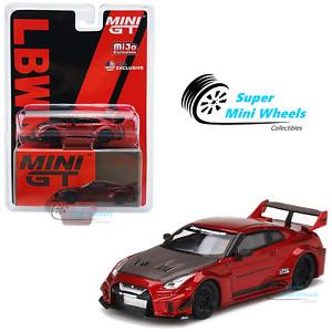 Mini GT 1:64 LB-Silhouette WORKS GT NISSAN 35GT-RR Ver.1 GTR (Lava Red) #191