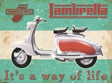 LAMBRETTA  It's a way of Life  Metal Sign Plaque Novelty Gift Present for him
