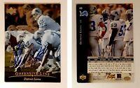 Scott Mitchell Signed 1996 Upper Deck Silver #60 Card Detroit Lions Autograph