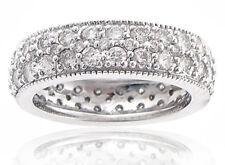 4.00 Ct. Tw Round Pave Diamond Eternity Wedding Band 18 kt White Gold