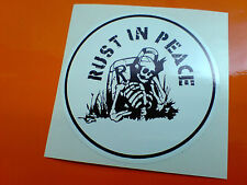 Rust In Peace van Car Classic Motocicleta Hot Rod Sticker Decal 1 De 80 Mm
