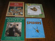Lot of Wildlife Spiders 1st Printing Hc Books – Way Of The Grizzly Prairie Dog