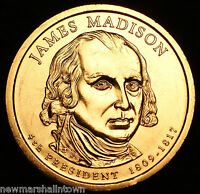 2007 D James Madison Presidential Dollar ~ Pos B ~ From U.S. Mint Roll