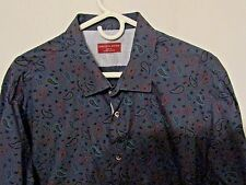 Saks Fifth Avenue Long Sleeve Button Up Shirt Size XXL Paisley Slim
