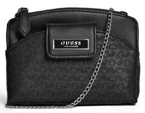 NEW GUESS Cely Womens Handbag Crossbody Shoulder Bag w Phone Pocket Black