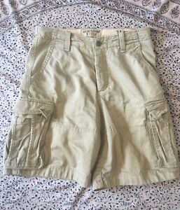 "ABERCROMBIE & FITCH - Fawn - Cotton - Cargo - Shorts - 34"" Waist"