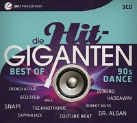 DIE HIT GIGANTEN BEST OF 90'S DANCE  (SCOOTER,DJ BOBO,REDNEX,SNAP!,..) 3 CD NEU