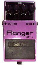 Roland Boss BF-2 Flanger Hecho En Japón MIJ 1982 Vintage Black Label Pedal De Efecto