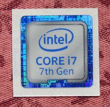 Intel Core i7 7th Generation Sticker 18 x 18mm Kaby Lake Case Badge