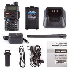 USA Two Way Ham FM Radio+Speaker Mic Walkie Talkie BAOFENG UV-5R Dual UHF/VHF