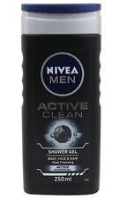 Nivea Men Active Clean Shower Gel Body Wash (250 ml) - Free Shipping