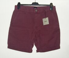 ASOS Chino Shorts In Mid Length Burgundy Size 30W Box74 58 J