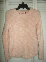 Adorable SO girls size 14 16 white and pink  textured sweater NWT