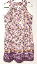 Aventura Clothing Women's 58% Organic Cotton Ballari Dress Violet Quartz Size. M