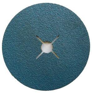 ABRACS VSM 115mm (4 1/2'') Zirconium Blue Fibre Sanding 60 Grit Discs (Pkt 25)