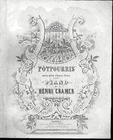 """Potpourri aus """" Tristan und Isolde """" von Henri Cramer, alte, übergroße Noten"""