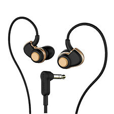 SoundMAGIC PL30+ In-Ear Headphones Stereo Earphones Black & Gold Hi-Fi Ear Plug