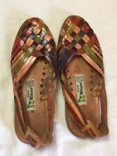 Huraches Authenic 100% Woven leather sandals  with straps Hand made tire tread
