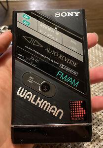 Vintage Sony Walkman WM-F100II Auto Reverse FM AM Cassette Player Dolby NR