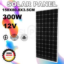 Gista 12v 300w Mono Solar Panel Kit Caravan Camping Power Battery Charging