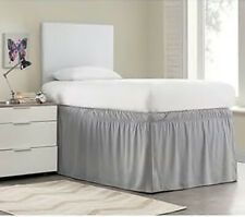 "Dorm Bed Skirt 32"" Drop Ruffled Bedskirt For Neat Storage Under Bed Twin Xl New"