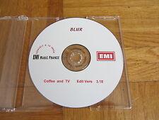 BLUR Coffee And TV - Edit Vers RARE 1999 FRANCE promo acetate CD single