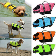 Pet Safety Vest Dog Life Jacket Reflective Stripe Preserver Puppy Swimming AUS