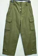New Genuine Vintage French Army first model M47 Cargo Pants /Trousers W31 L42