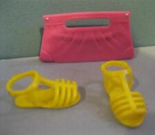LIV N BRITE Bright FASHION PACK DOLL CLOTHES OUTFITS Yellow Sandal Shoes/clutch