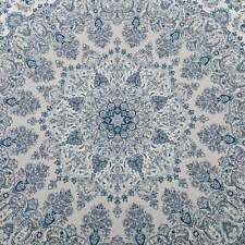 Navy Blue Ivory Rug Distressed Allover Traditional Persian Print Carpet 120x170