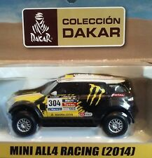 Dakar rally MIni all4 racing (2014) 1/43 Brand new in box with magazine