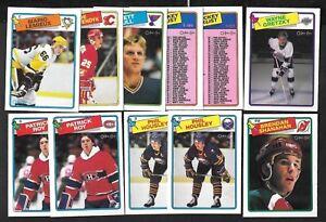 1988-89 OPC 88-89 O PEE CHEE NHL HOCKEY CARD + ERROR & VARIATION 1-132 SEE LIST