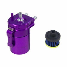 ALUMINUM OIL CATCH CAN RESERVOIR TANK WITH BREATHER FILTER BAFFLED PURPLE DT