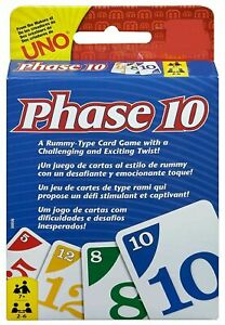 Phase 10 Card Game, Multi Color