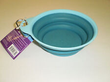 PetRageous  Collapsible Pet Bowl  1.5 cup capacity with carry clip